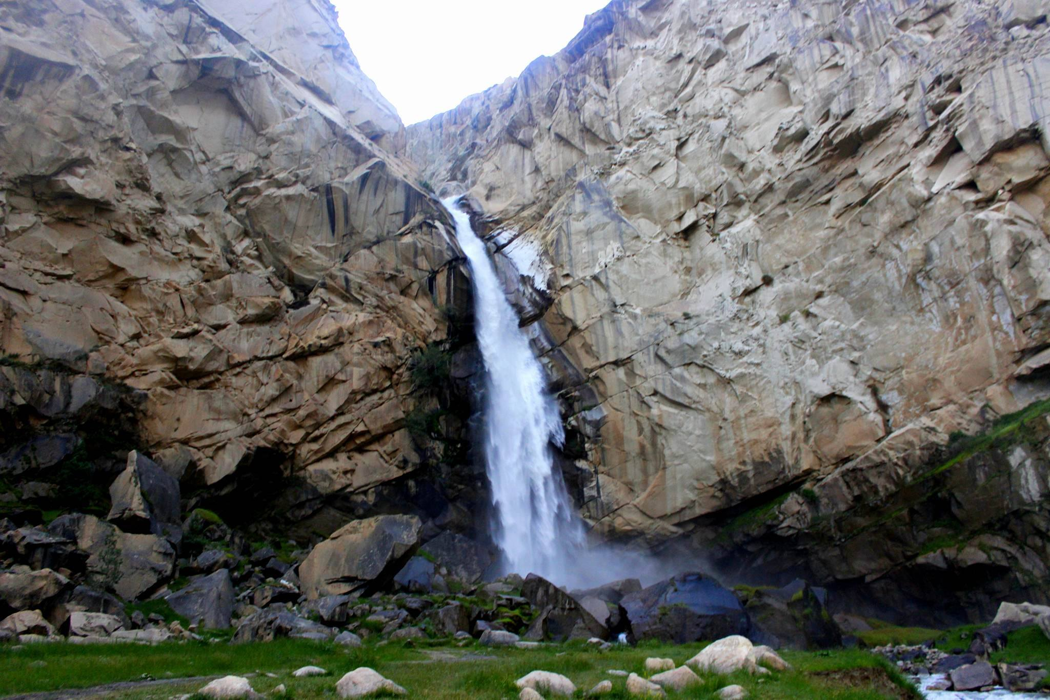 Khamosh Waterfalls in Gilgit Baltistan