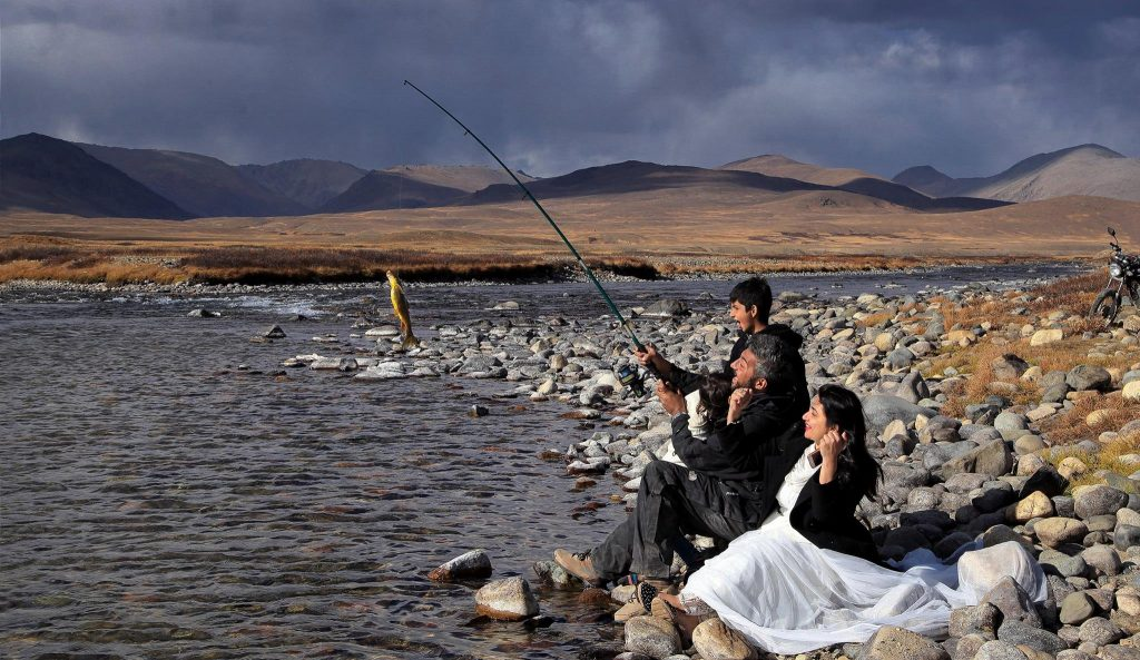 Fishing at Deosai