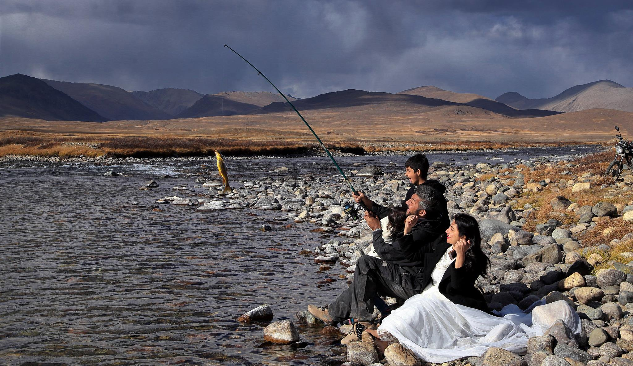 Fishing at Deosai