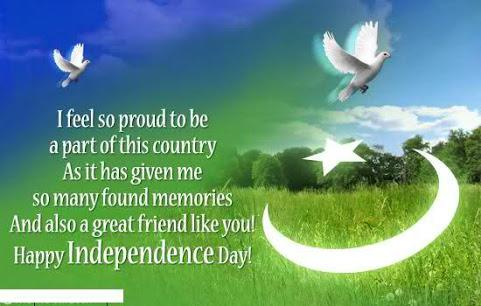 Pakistan Independence day message in English