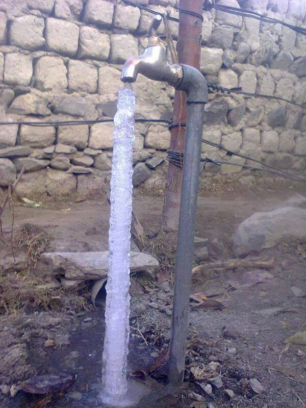 Pipe Freeze Winter Gilgit Baltistan