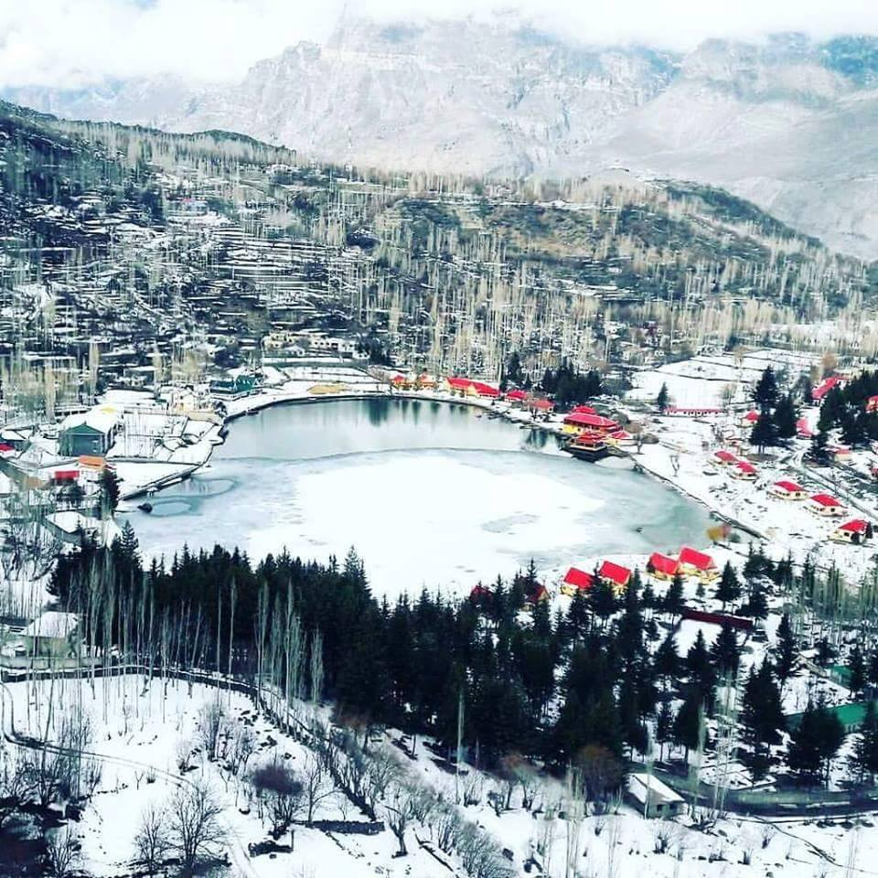 Lower Kachura Lake Skardu in Winter