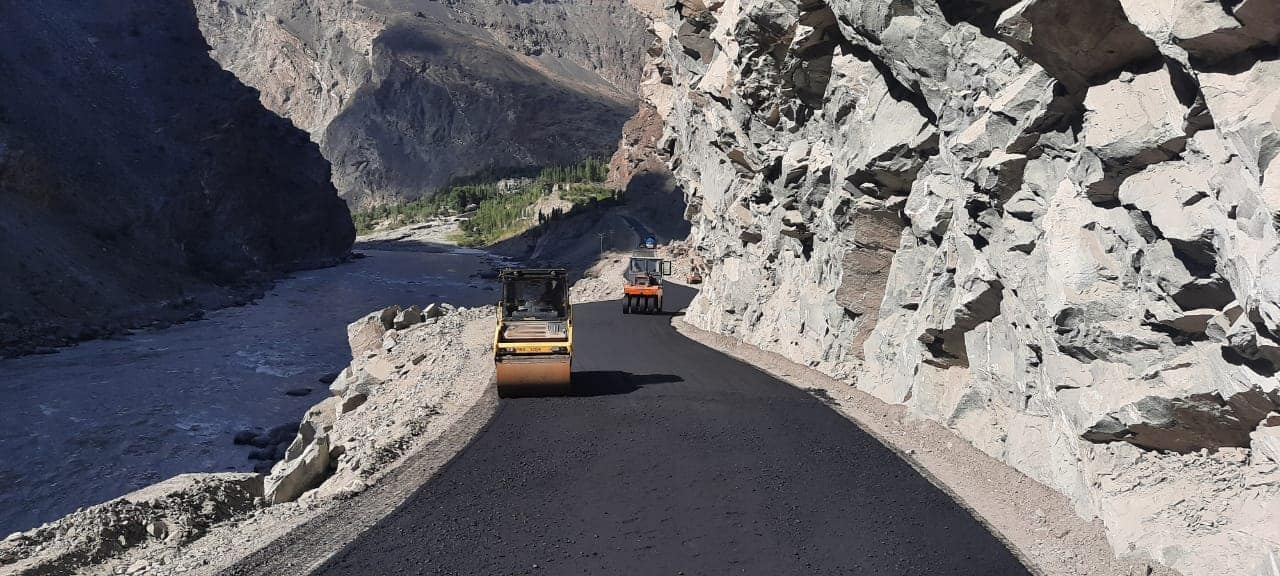 Construction of Jaglot Skardu Road