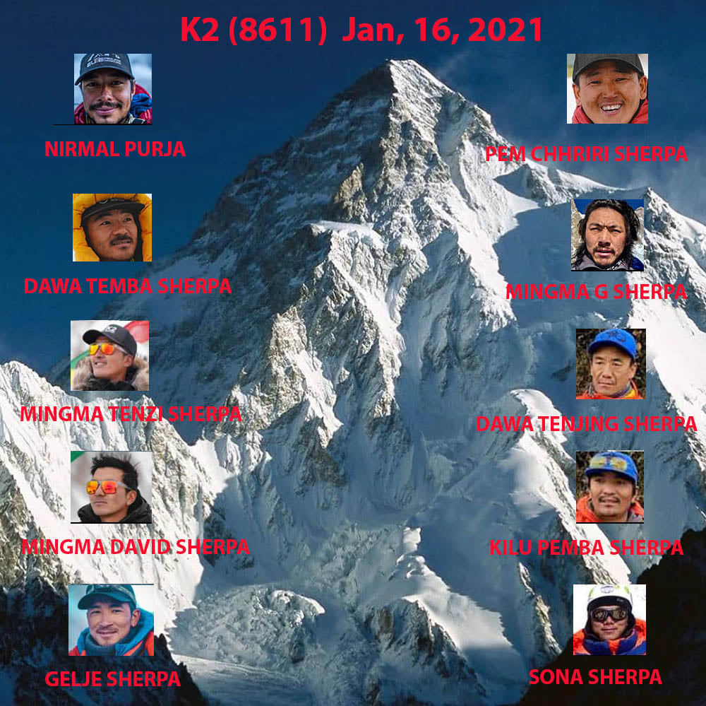 The First Winter Ascent of K2