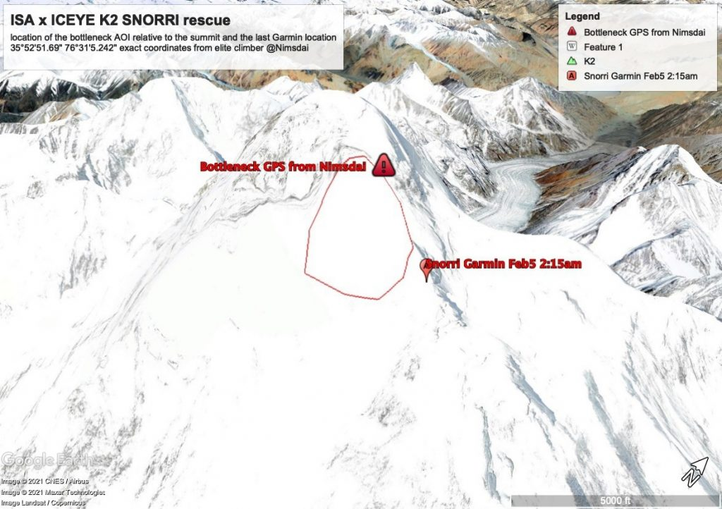 K2 Winter missing climber satellite images found