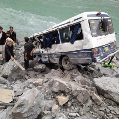 Coaster accident Karakoram Highway Kohistan