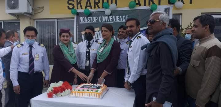 PIA Lahore Skardu flight